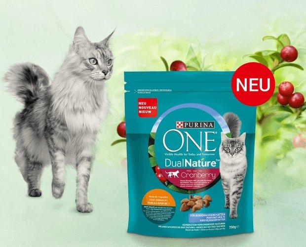 """Gratismuster: Purina One Katzen Trockenfutter """"DualNature mit Cranberry"""" (50g) kostenlos bestellen"""