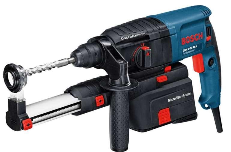 Bosch Professional Bohrhammer GBH 2-23 REA mit Absaugeinheit für 151,99€ (statt 218€)
