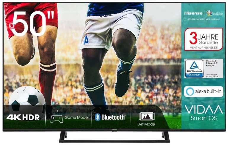 Hisense 50AE7200F - 50 Zoll UHD LED Smart TV mit Triple Tuner für 341,10€ inkl. Versand (statt 389€)