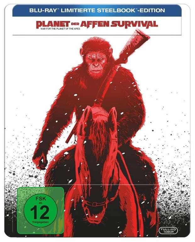 Planet der Affen Survival Limited Steelbook Edition (Blu-ray) für 9€ (statt 17€)