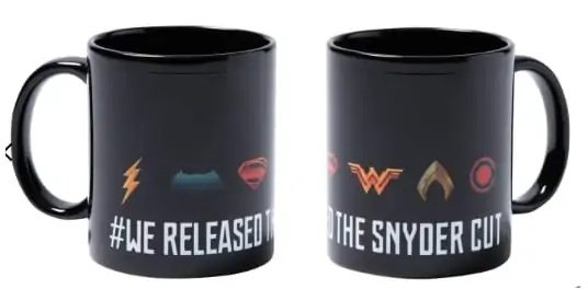 2x Justice League We Released The Snyder Cut Tasse