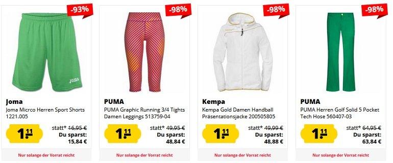 SportSpar Restgrößen Sale 2
