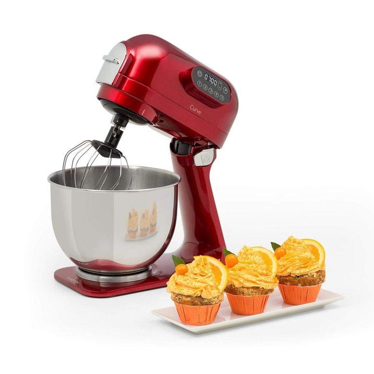 Klarstein Curve Küchenmaschine in Rot oder Silber für 99,99€ inkl. Versand