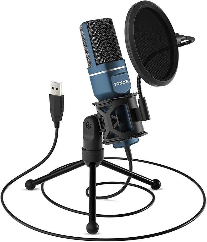 Tonor TC-777 USB Mikrofon mit Stativ & Pop-Filter für 15,94€ inkl. Prime Versand (statt 29€)