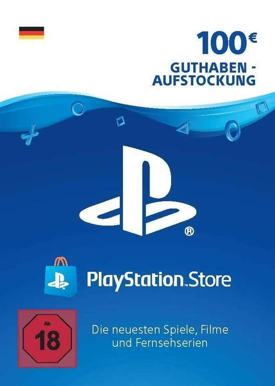 100€ Playstation Network Guthaben Karte für 72,70€ (statt 100€)