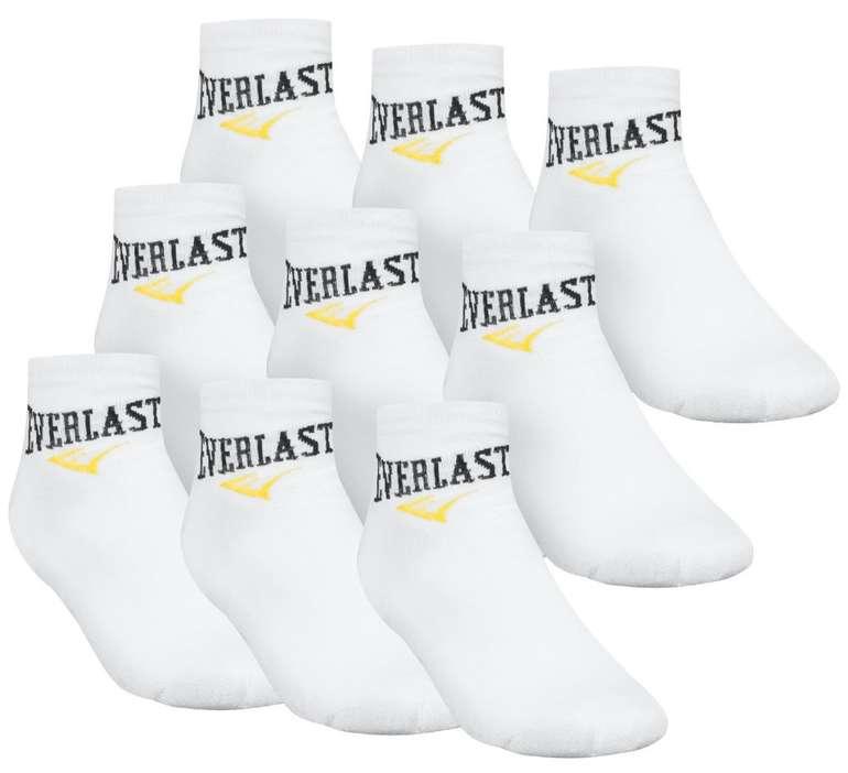 Everlast Unisex 9er-Pack Quater Socken (40 - 46) in weiß für 8,88€ inkl. Versand (statt 13€)