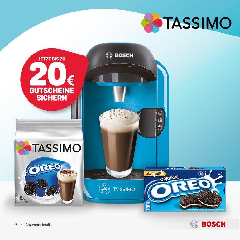 Tassimo Vivy + 20€ Gutschein + Oreo T-Discs & Kekse zu 34,99€ inkl. Versand
