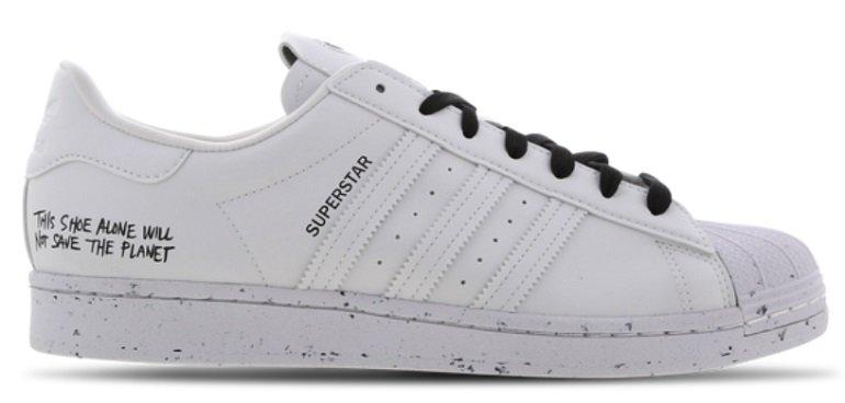 """adidas Superstar Lowcut Leder-Sneaker im """"Cloud-White""""-Colorway für 49,99€ (statt 65€)"""