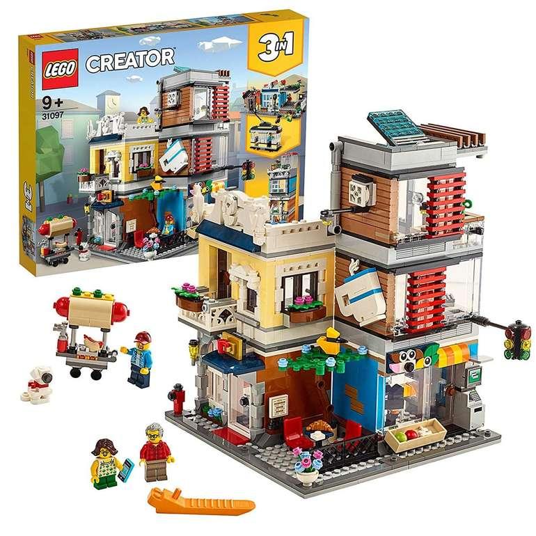 Lego Creator 31097 - 3-in-1 Stadthaus mit Zoohandlung & Café für 50,93€ inkl. Versand
