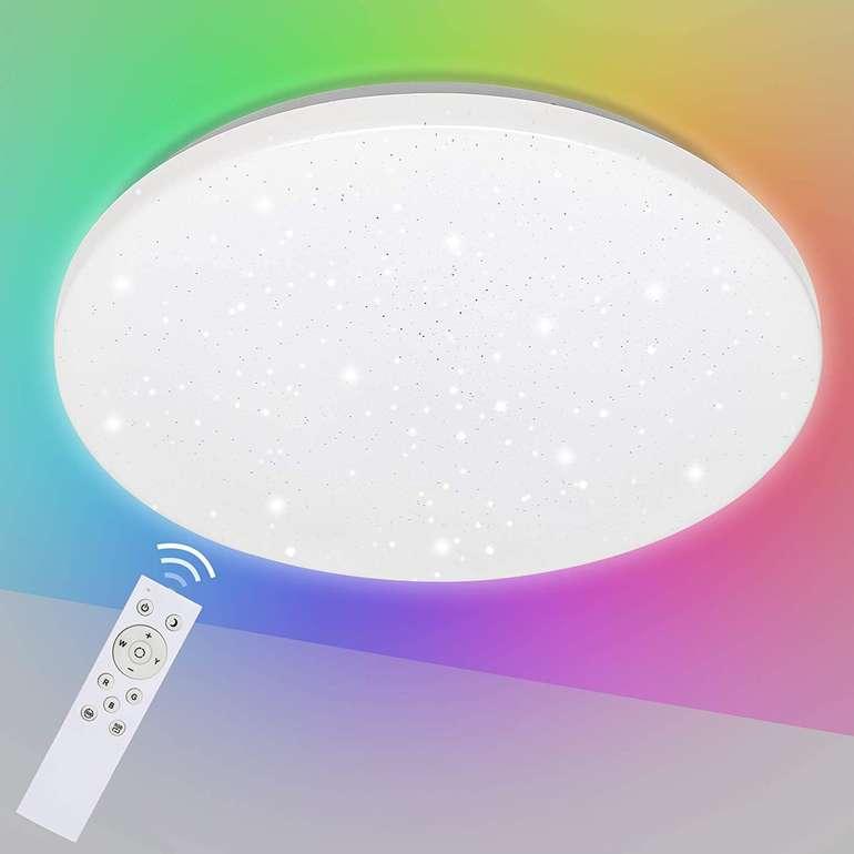 -30% auf Hengda LED Deckenleuchten mit Sternen, z.B. 24W RGB für 30,09€