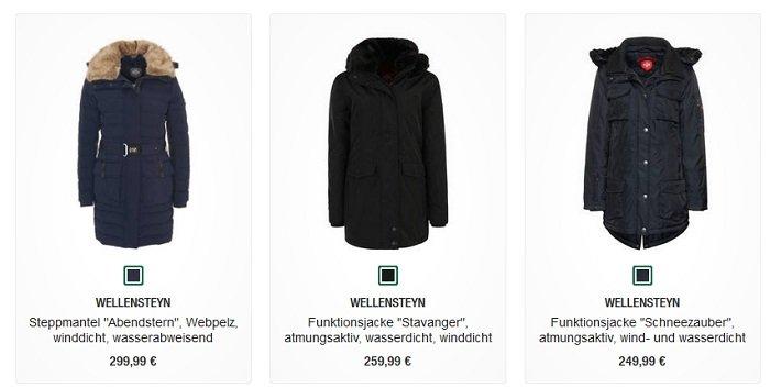Wellensteyn Jacken Sale bei Galeria Kaufhof + 20€ Extra, z.B.…