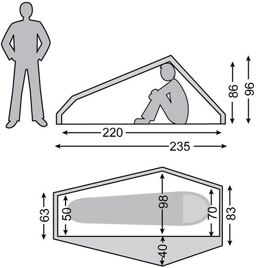 Nordisk Telemark 1 LW Ein-Personen-Zelt
