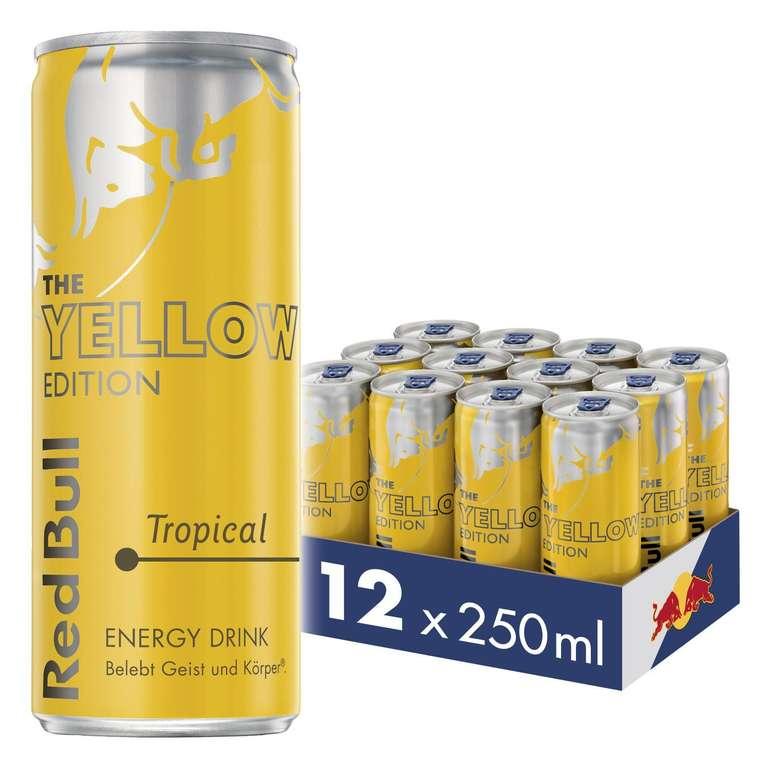 Red Bull Energy Drink - Tropical Yellow Edition 12er Palette für 11,18€ (inkl. 3€ Pfand) mit Prime Versand - Spar Abo