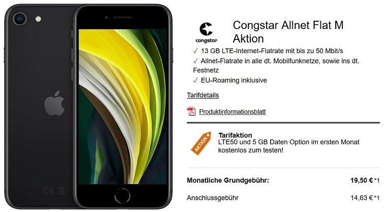 Apple iPhone SE Congstar Telekom Allnet-Flat mit 8GB LTE