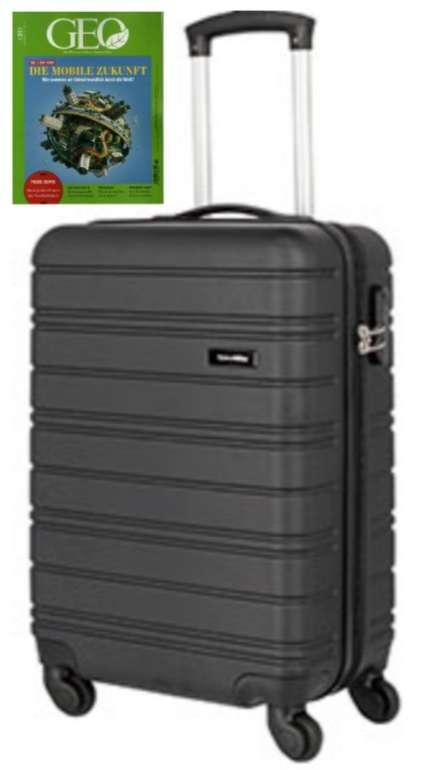 Travelite Lagos 4-Rollen-Trolley 55 cm in schwarz + 3 Ausgaben GEO für 26,40€ (statt 67€)