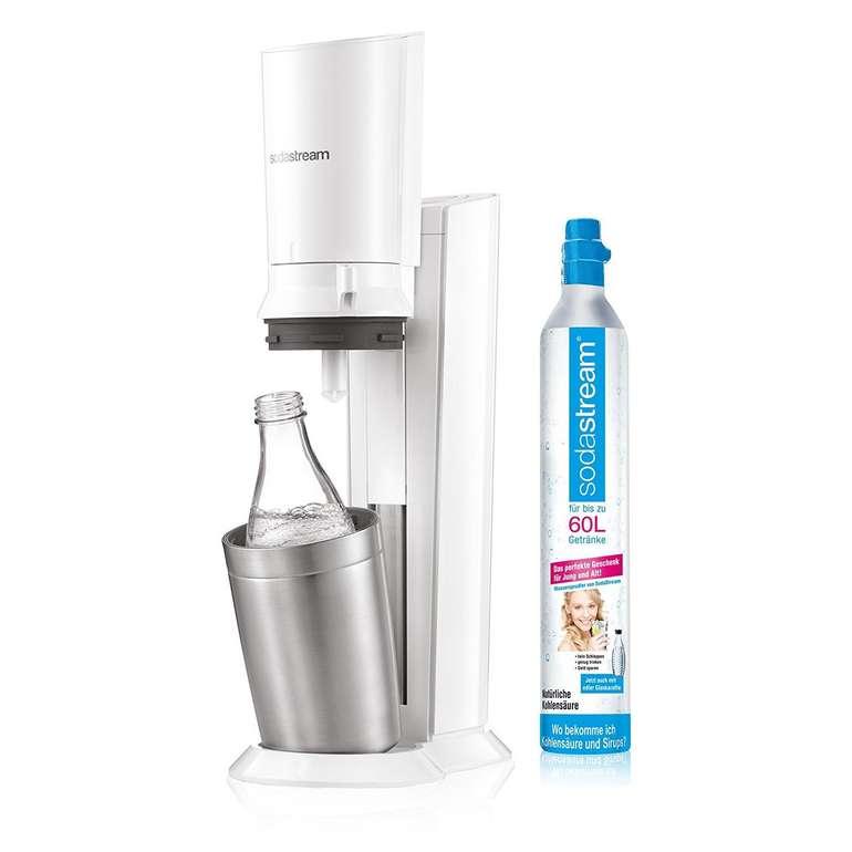 Wieder da! SodaStream Crystal 2.0 weiß mit 2 Glaskaraffen für 89,99€ inkl. Versand (statt 112€)