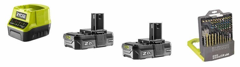 Ryobi One Powertool-Set 2