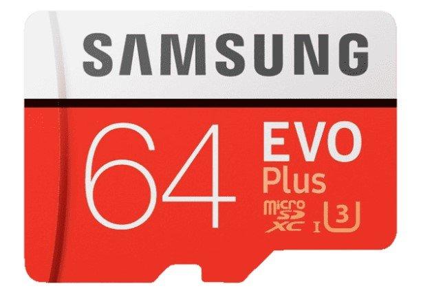 SamsungEvo Plus Micro-SDXC mit 64 GB (100 MB/s) für 9€ inkl. Versand (statt 11€)