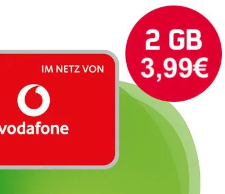Vodafone Smart Surf (2GB LTE, 50 min & SMS) für 3,99€ mtl. - keine Anschlussgebühr!