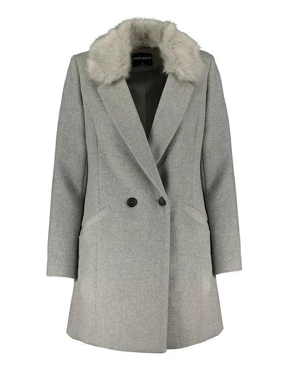 Tally Weijl Sale mit bis -70% Rabatt, z.B. grauer Mantel mit Knöpfen für 33,99€