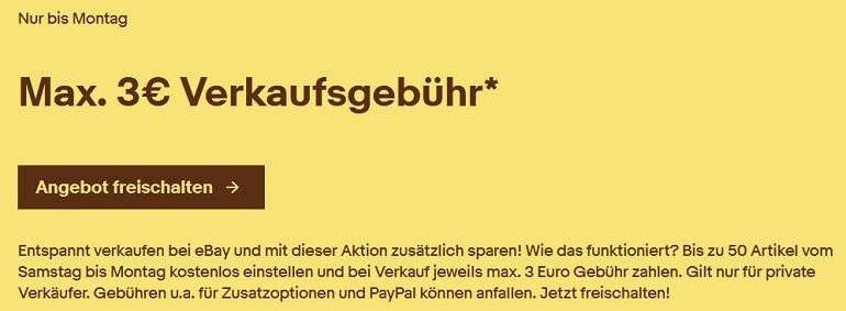 Ebay Verkaufsprovision