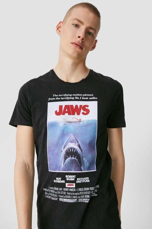"""Clockhouse Herren T-Shirt """"Der weiße Hai"""" für 7,99€ inkl. Versand (statt 13€)"""