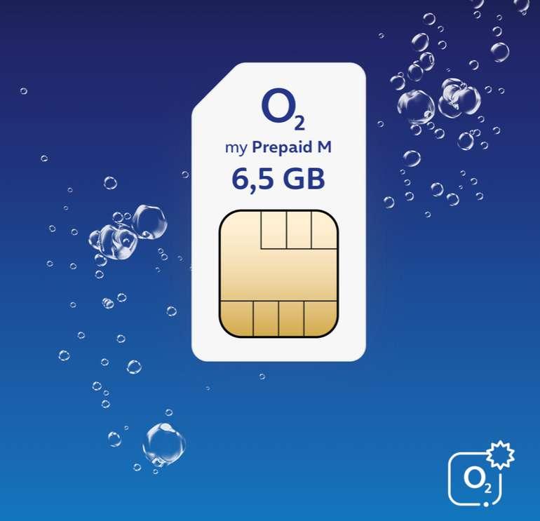 O2 my Prepaid M Allnet Flat mit 6,5 GB LTE für 14,99€ mtl. (ohne Vertragslaufzeit, keine Anschlussgebühr)