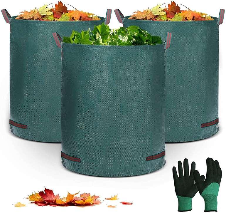 Eivotor Gartenabfallsäcke (3x320L) + Gartenhandschuhe für 17,49€ inkl. Prime Versand (statt 25€)