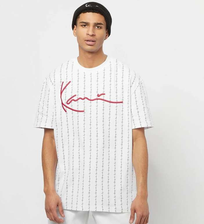 Karl Kani Signature Logo Pinstripe Herren T-Shirt in 2 Farben für je 21,49€ inkl. Versand (statt 28€)