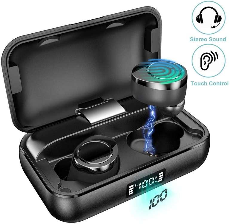 Qarfee kabellose Bluetooth 5.0 In-Ear-Kopfhörer mit Ladebox für 29,99€ (statt 46€)