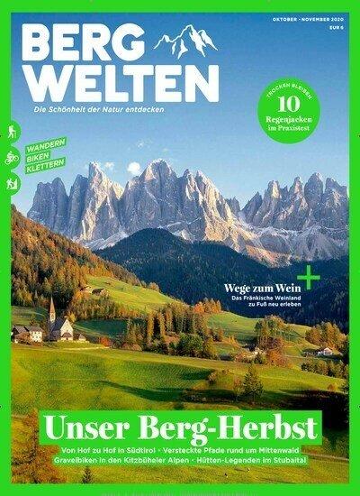 8 Ausgaben Bergwelten für 44€ + 40€ Amazon-Gutschein oder 35€ Scheck!