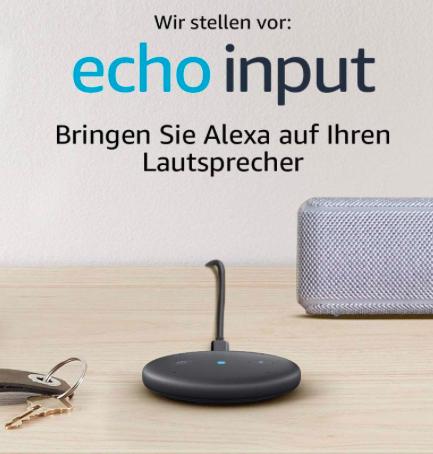 Amazon Echo Input Sprachsteuerung für 24,99€ inkl. Versand (Vergleich: 30€)