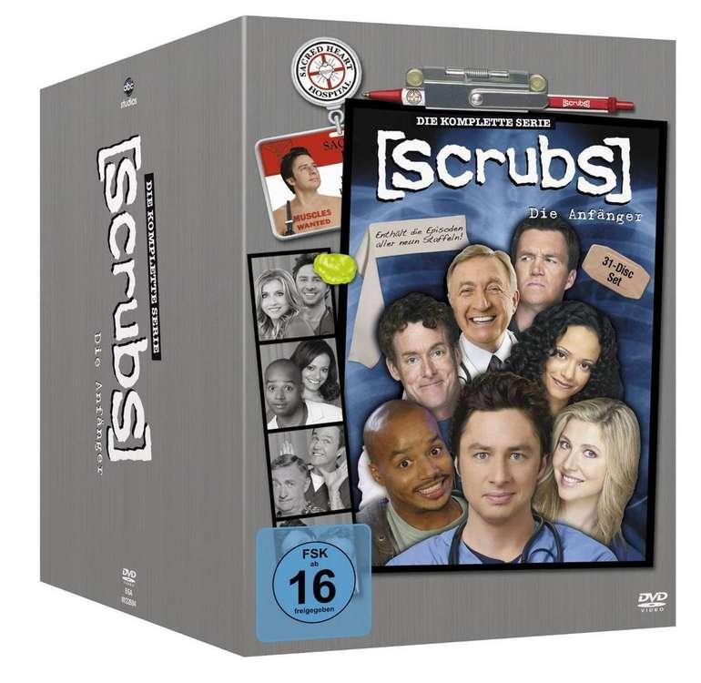Scrubs Staffel 1-9 komplett auf DVD für 29,99€ inkl. Versand (statt 73€) + 30€ Kinogutschein