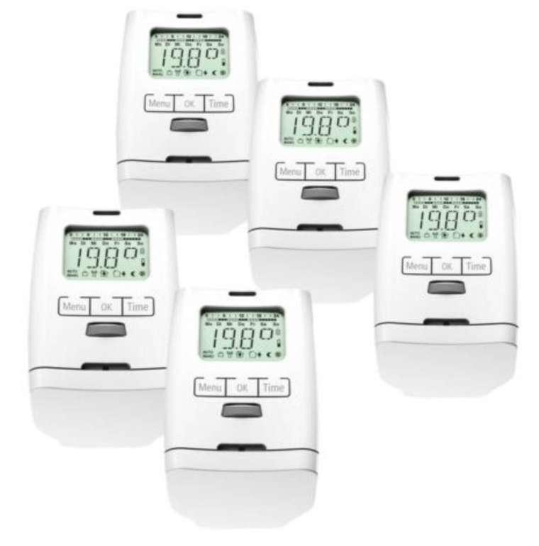 5er Pack Olympia HT 2000 - Elektronische Heizkörperthermostate für 59,99€