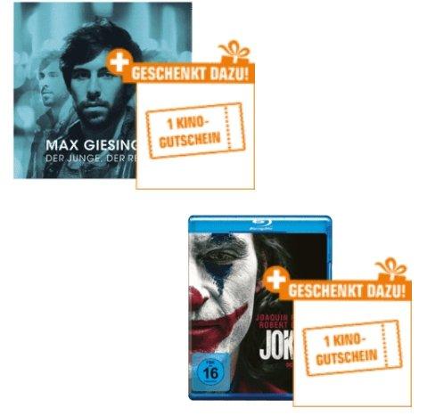 Saturn: CDs, DVDs oder Blu-rays kaufen und pro 30€ Bestellwert einen Kino-Gutschein geschenkt bekommen
