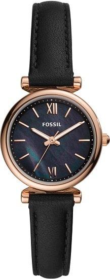 """Fossil Carlie Mini Damenuhr """"ES4700"""" in Schwarz/Gold für nur 61,34€"""