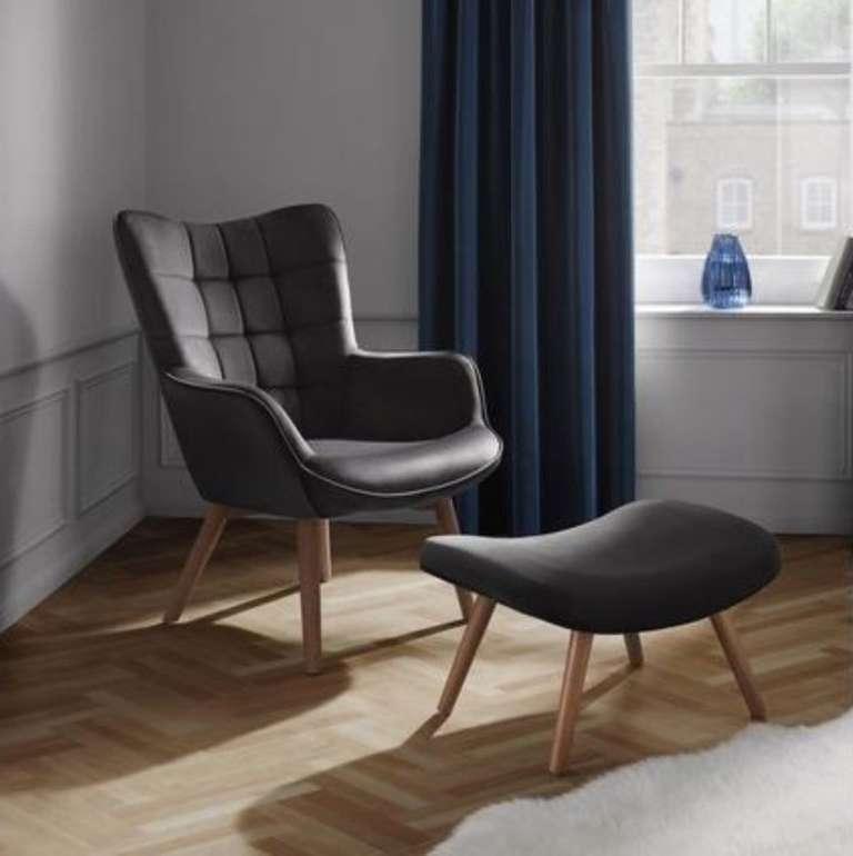 "Mömax: Sessel ""Merlin"" + Hocker in grau für 167,30€ inkl. Versand (statt 218€)"