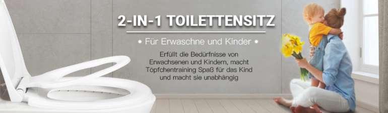 Dalmo Toilettensitz mit integriertem Kindersitz