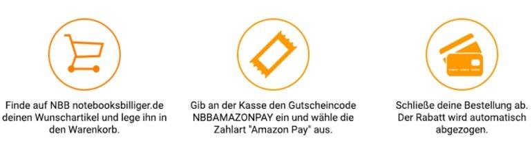 Notebookbilliger Amazon Pay Rabatt 2