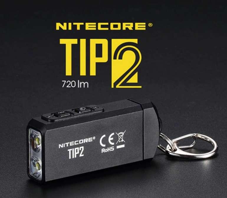 Nitecore TIP2 - Schlüsselanhänger LED Taschenlampe mit 720 Lumen für 27,95€ inkl. Versand (statt 45€)
