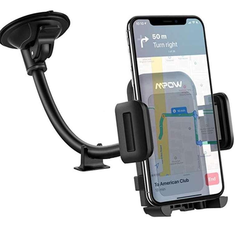 Mpow Windschutzscheiben Handyhalterung für 6,99€ inkl. Prime Versand
