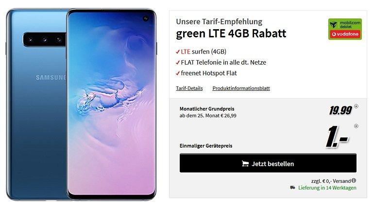 Samsung Galaxy S10 Vodafone Allnet-Flat 4GB LTE