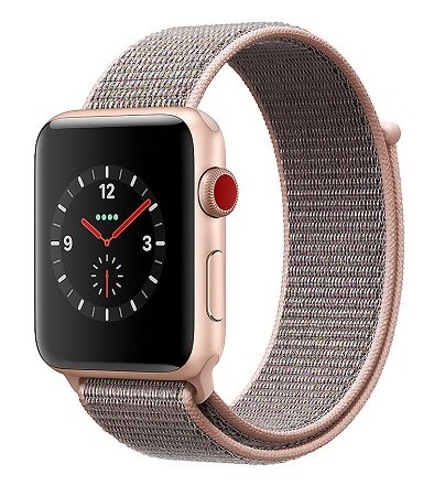 Apple Watch Series 3 42mm (GPS + Cellular) in Sandrosa für 299€ (statt 339€)