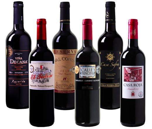 6er Wein Probierpaket Rotwein Bestseller bei WeinVorteil für 34,94€ inkl. VSK