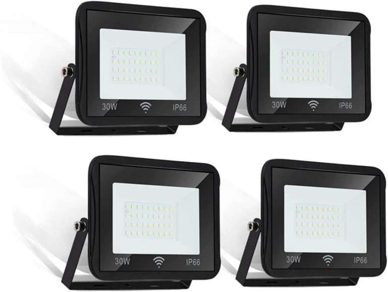 Hengda 4er Packs LED Strahler günstiger, z.B. 30W für 31,19€ (statt 52€)