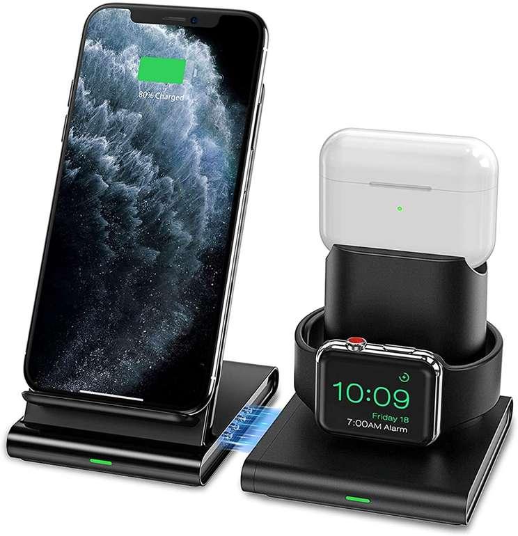 Seneo kabellose Ladestation für Apple Watch, iPhone & AirPods für 16,99€ inkl. Prime Versand (statt 23€)