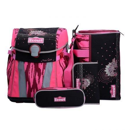 """Scout Sunny 4-teiliges Schulranzen-Set """"Pink Dino"""" für 79,20€ inkl. Versand"""