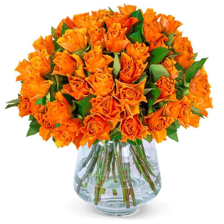 35 orangefarbene Rosen mit ca. 50cm Länge für 24,98€ inkl. Versand (statt 35€)