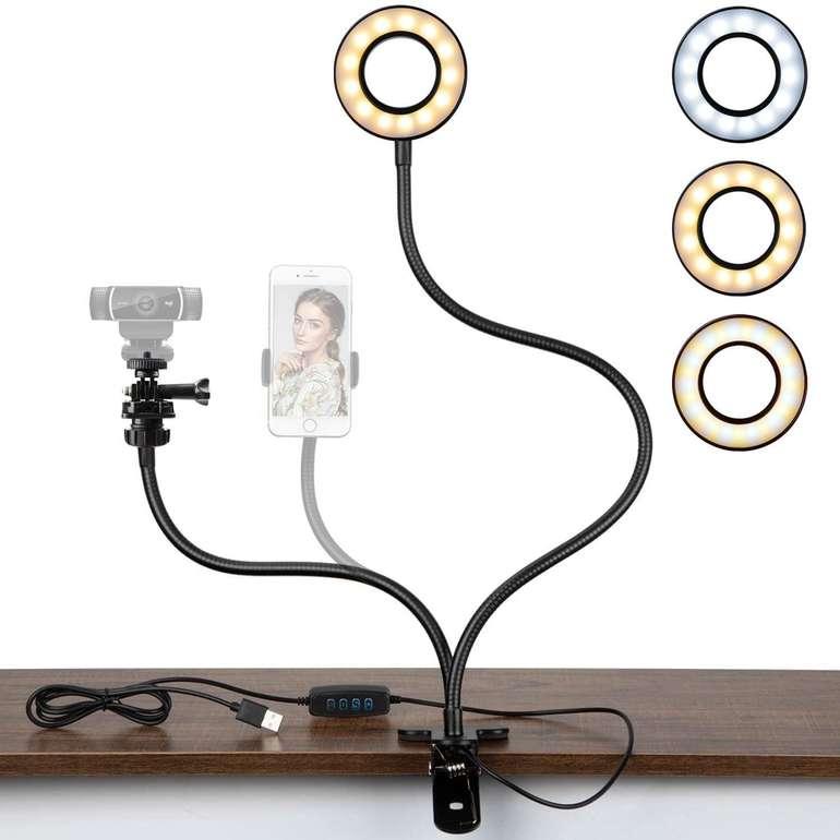 Pipishell Ringlicht, Webcam-Halterung in 3 Farben und 10 Helligkeitsstufen für 7,64€ inkl. Prime Versand (statt 17€)
