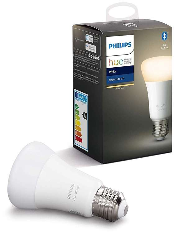 Phillips Hue White E27 Einzelpack Bluetooth für 4,99€ mit Primeversand (statt 16€) - nur ausgewählte Kunde